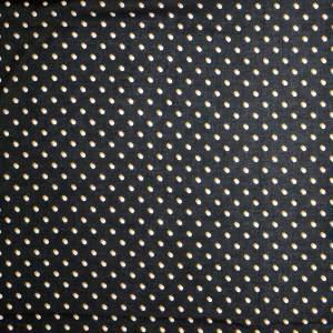 Mussola cotone leggero – pois bianco ocra fondo nero