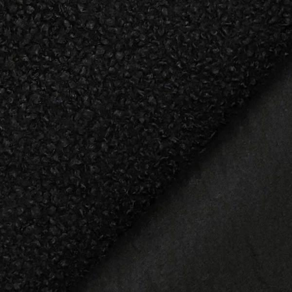 bouclè cappotto nero
