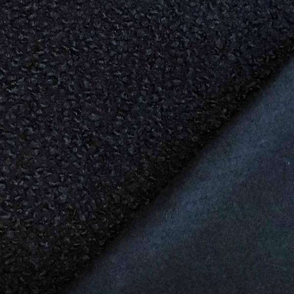 bouclè cappotto blu notte