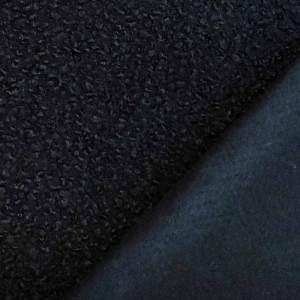 Tessuto bouclè – blu notte