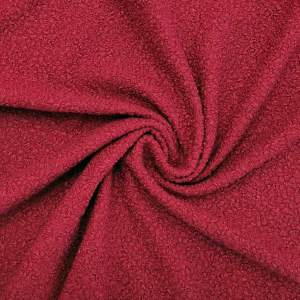 Tessuto bouclè – rosso