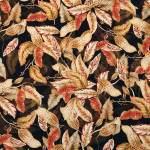 seta foglie rosso bruciato