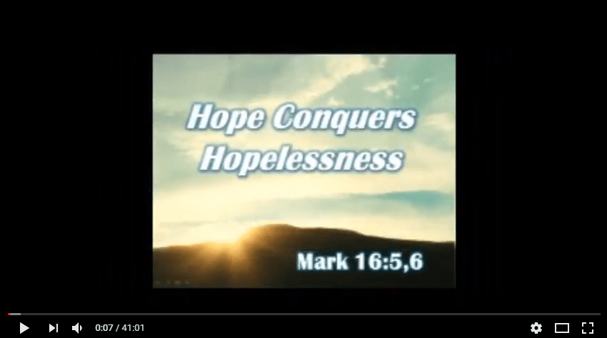 Hope Conquers Hopelessness