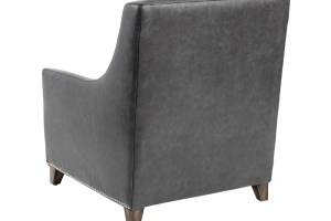 BERGAMO ARMCHAIR – ASH GREY LEATHER