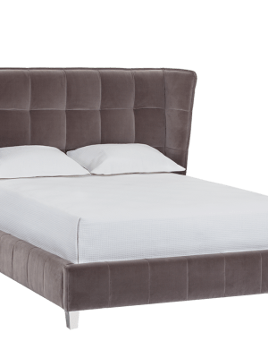 CADAM BED – QUEEN – GIOTTO GREY FABRIC