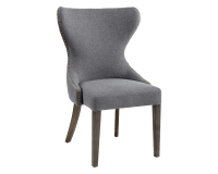 ARIANA DINING CHAIR – DARK GREY FABRIC