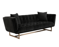 CENTENNIAL SOFA – ANTIQUE BRASS – GIOTTO SHALE GREY FABRIC