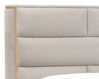SHONDA BED – KING – YELLOW GOLD – HEMINGWAY SILVER FABRIC