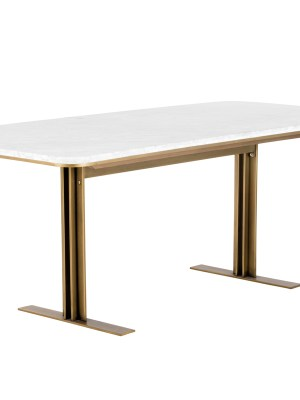 AMBROSIA DINING TABLE – MARBLE – 79?