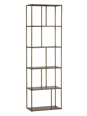 EIFFEL BOOKCASE – ANTIQUE BRASS – SMALL