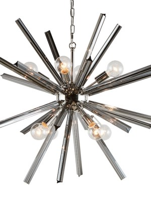 FARADAY – CHANDELIER – LARGE – SMOKE GREY GLASS
