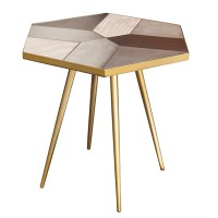 Giselle Side Table Concrete Oak