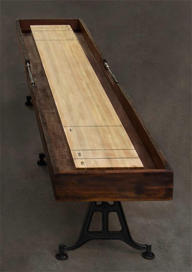 Shuffleboard Gaming Table Burnt Umber