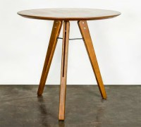Theo Bistro Table Hard Fumed