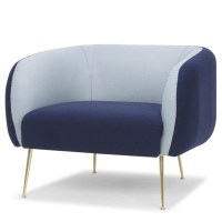 Astrid Single Seat Sofa Navy Blue
