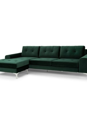 Colyn Sectional Sofa Emerald Green