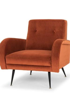 Hugo Occasional Chair Rust