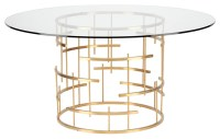 Round Tiffany Dining Table Clear