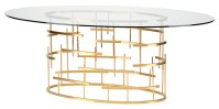 Oval Tiffany Dining Table Clear