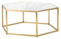 Hexion Coffee Table White