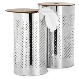 Metro Chrome Laundry Baskets, Set of Two