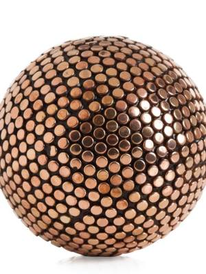 Copper Studded Decor 4″ Ball – Large