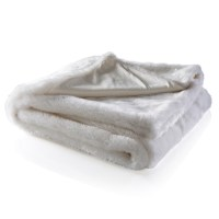 Aspen Deluxe Faux Fur / Velboa Throw – Polar White