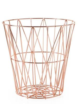 Diamond Weave Storage Basket Small – Rose Gold / Copper