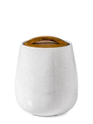 Basalt Crackle Glaze Canister with Wooden Lid – Tall