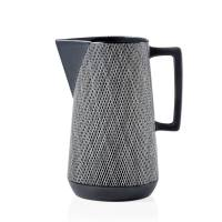 Bergen Weave Matte Grey Ceramic Pitcher