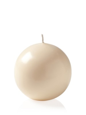 Prime Palm Wax 3″ Ball Candle – Ivory