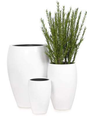 Aria Polystone Planters with Liners – Set of Three