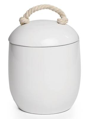 Cape White Ceramic Canister – Large