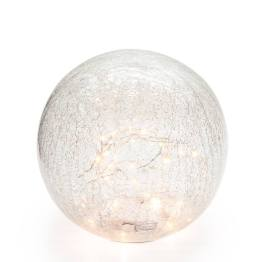 Led Sphere 8″ Crackle Glass Decor Light