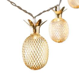 Lucent Metal Pineapple Shape 10 LED Battery Operated Light String