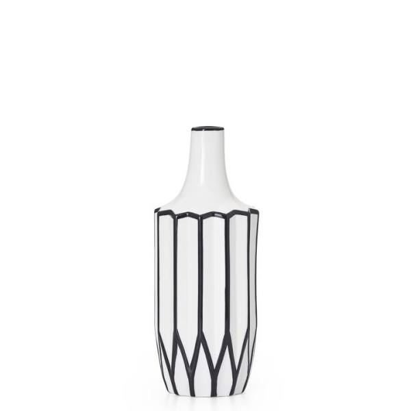 Abstract 12″h Linear Outline Vase