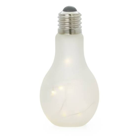 Glow Lightbulb Glass LED Decor Lamp – Frosted