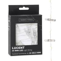 Lucent Mini Clothespin Shape 20 LED Battery Light String