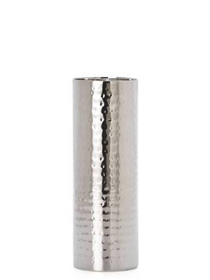 Aladdin Hammered Stainless Steel 10″ Pillar Candle Holder