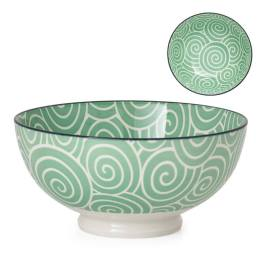 Kiri Porcelain 8″ Large Bowl – Sea Green Swirl
