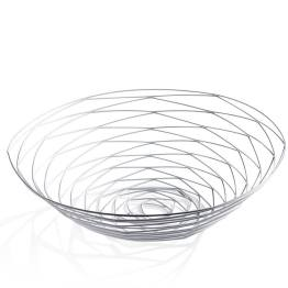 Weave Bowl Wide – Powder Coated White