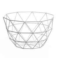 Diamond Weave 11″ Diameter Tall Fruit Bowl – White