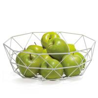 Diamond Weave 12.5″ Diameter Wide Fruit Bowl – White