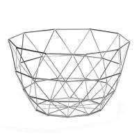 Diamond Weave 11″ Diameter Tall Fruit Bowl – Chrome