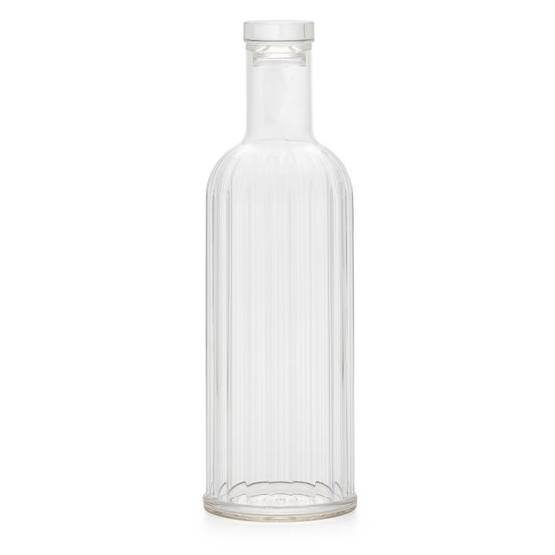 Rio Ribbed Acrylic Bottle – Clear