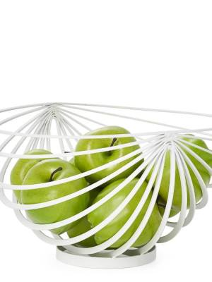 Eclipse Rib Fruit Basket – White