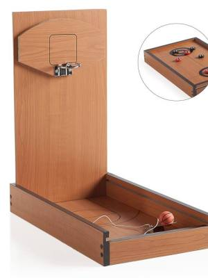 Retro Tabletop Duo Basketball & Shuffleboard Game