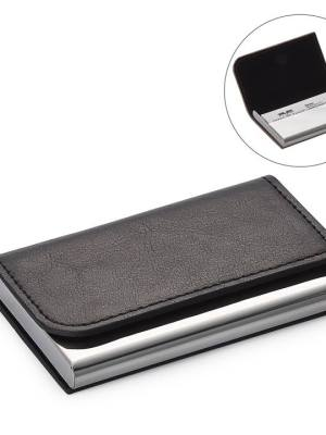 Executive Curve Business Card Holder – Black