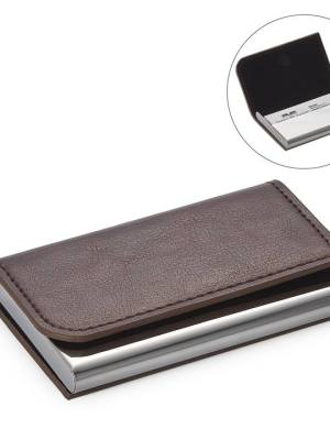 Executive Curve Business Card Holder – Brown