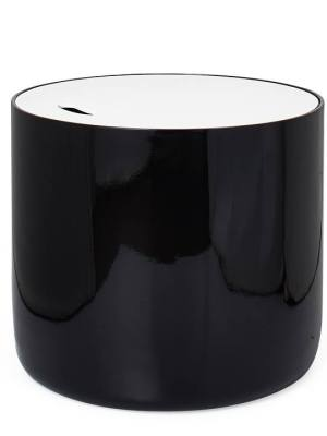 Niche Lacquered Storage Side Table – Black